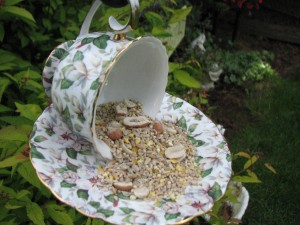 Teacup and Saucer Bird Feeder