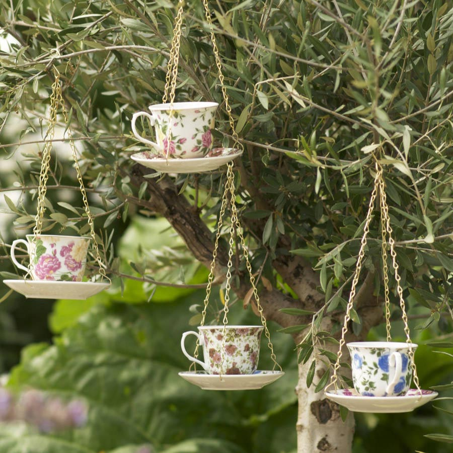 Teacup Bird Feeder Garden