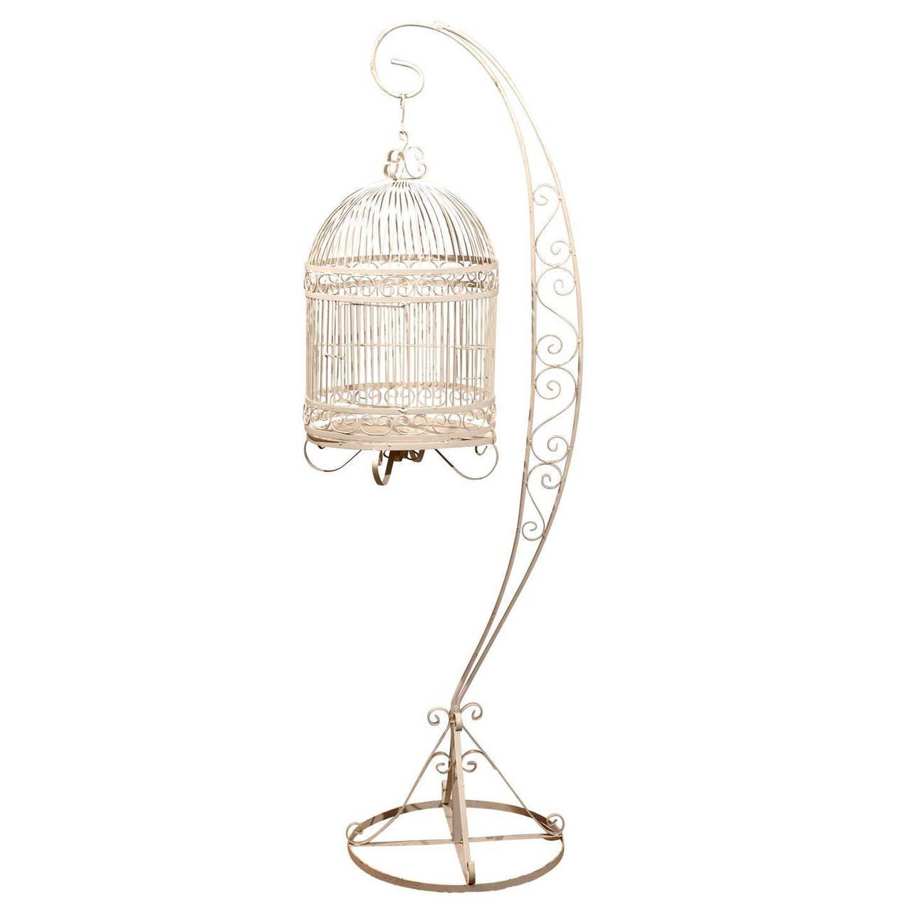 Victorian Bird Cage Stand