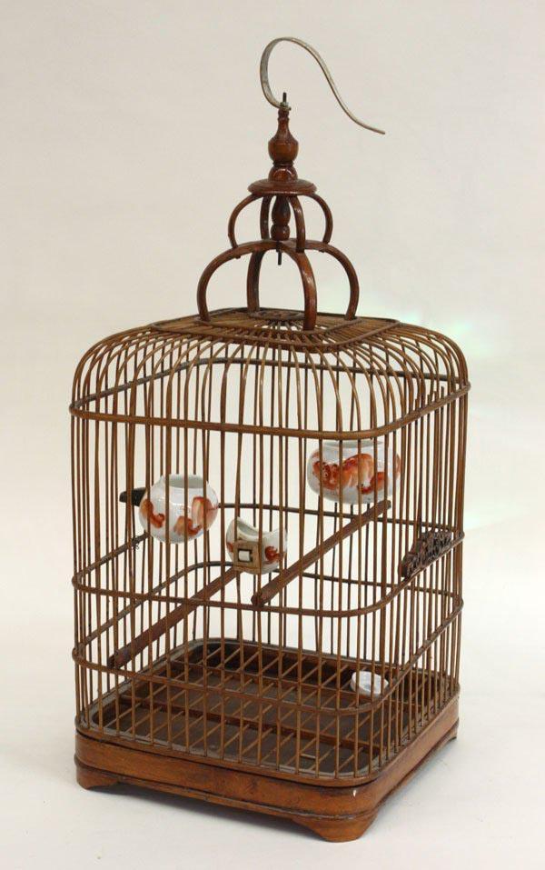 Vintage Bamboo Bird Cage