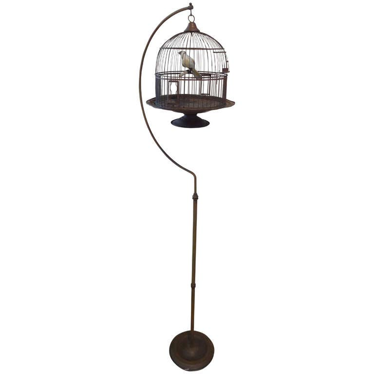 Vintage Bird Cage on Stand