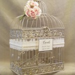 Vintage Bird Cage Wedding Card Holder