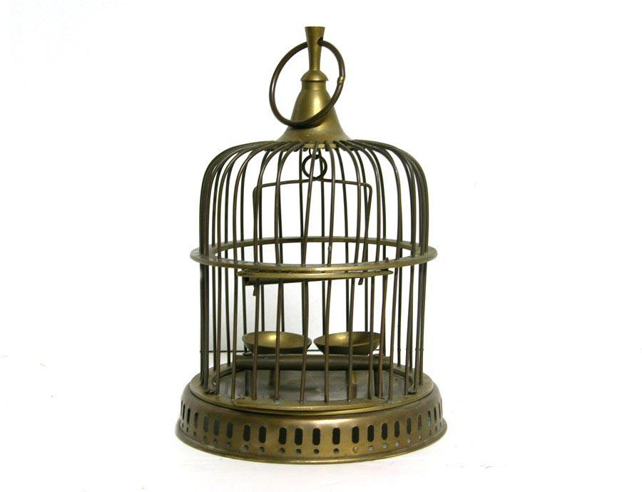 Vintage Brass Bird Cage