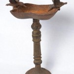 Vintage Cast Iron Bird Bath