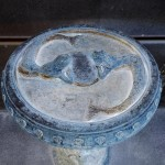 Vintage Concrete Bird Bath
