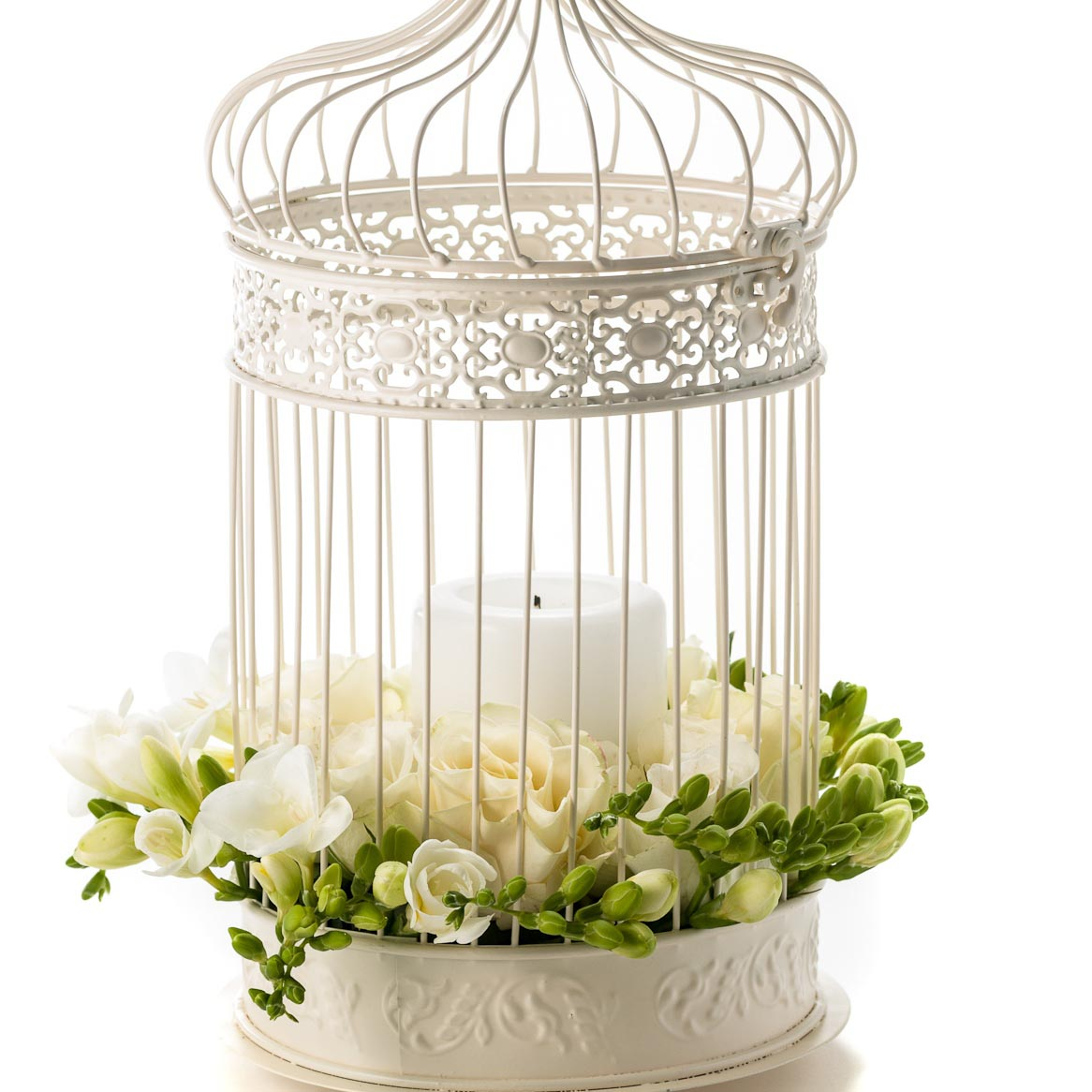 White Bird Cage Decor