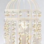 White Bird Cage Lamp