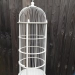 White Victorian Bird Cage