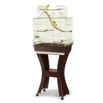 Wooden Bird Cage Stand