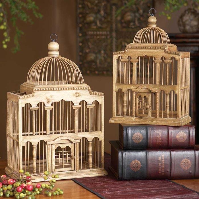 Wooden Bird Cages Decorative