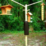 Wooden Bird Feeder Pole Systems