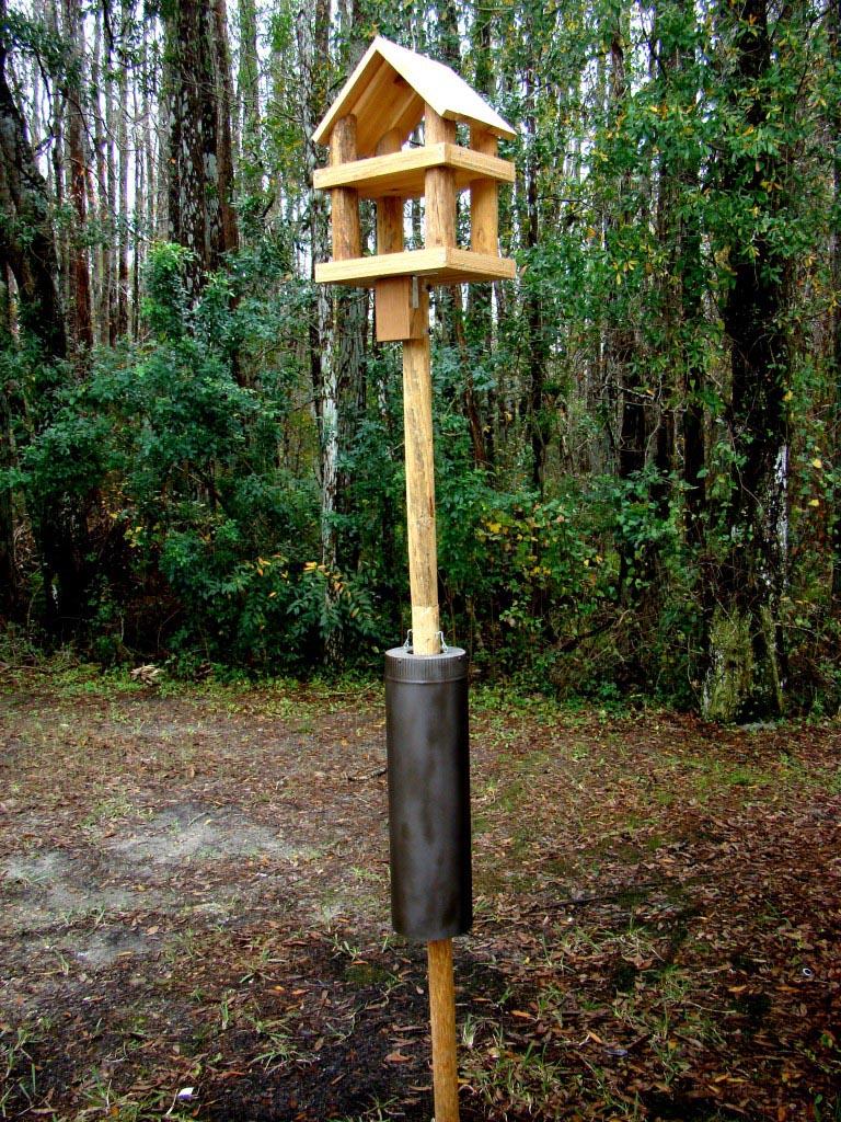 Wooden Bird Feeder Stands