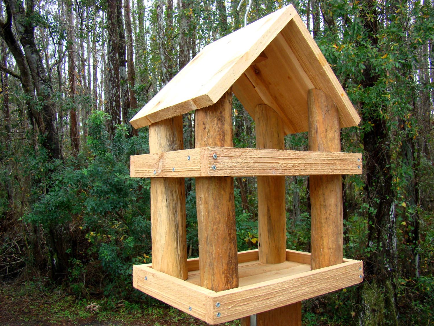 poly made post feeders bird gazebo polywood feeder amish mount