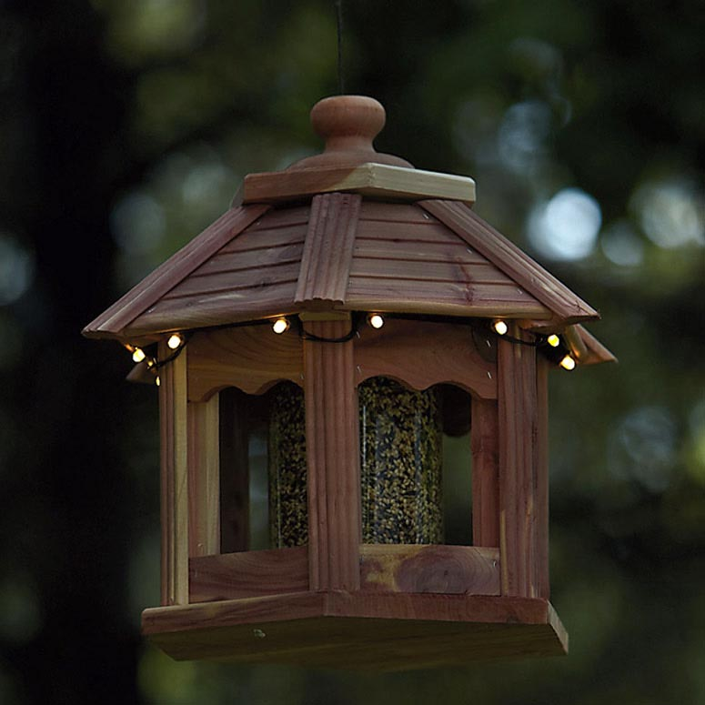 Wooden Gazebo Bird Feeders