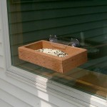 Wooden Window Bird Feeder