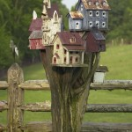 Bird House on Pole