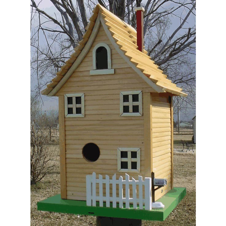 Bird house pole why not try it now birdcage design ideas for Stick built home kits