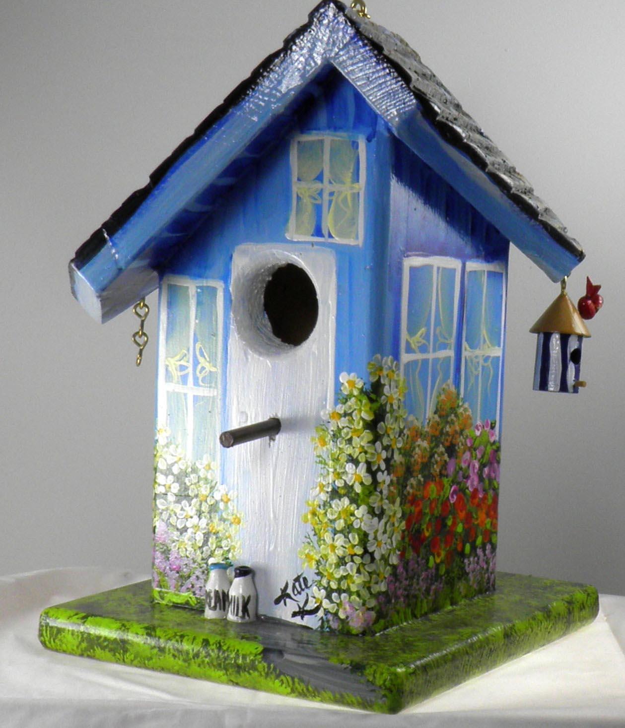 Bird Houses Painting Ideas