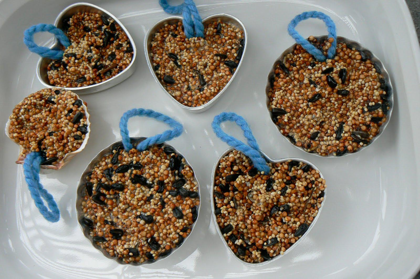 Bird Seed Cakes with Gelatin