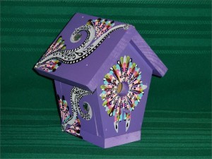 Hand Painted Wooden Bird Houses