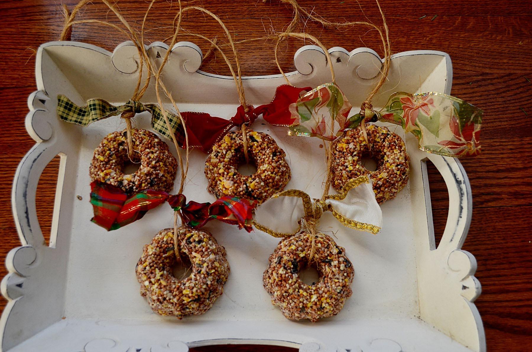 Homemade Bird Seed Ornaments