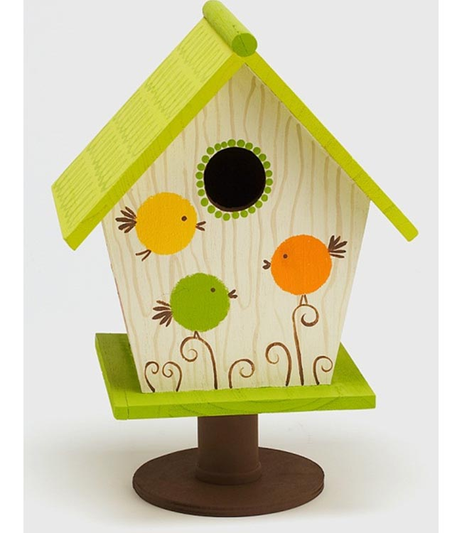 Simple painted bird house for Easy birdhouse ideas