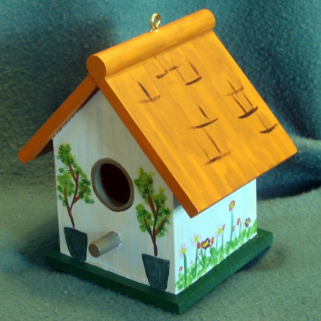 Painted Wood Bird Houses