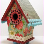 Painted Wooden Bird Houses